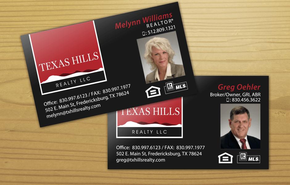 Queen b marketing company fredericksburg tx texas hills realty texas hills realty business cards colourmoves Choice Image